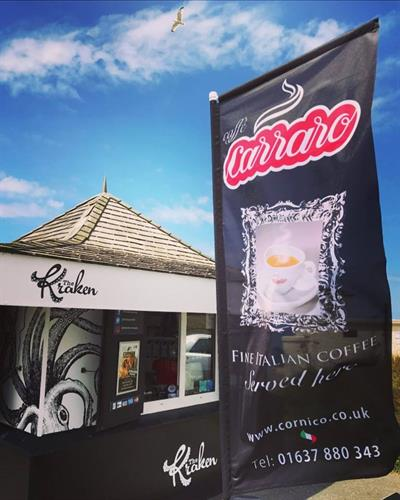 Cornico Coffee Feather Banner Flags