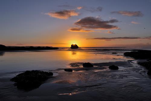 "Sunrise over ""Black Rock"""