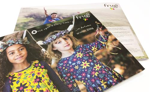 Lookbook design for Frugi