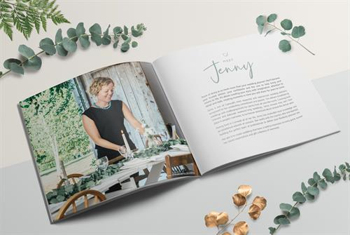 Rebrand and brochure design for Jenny Wren Weddings & Events