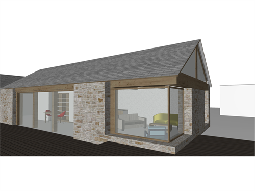 extension to existing barn conversion, west cornwall