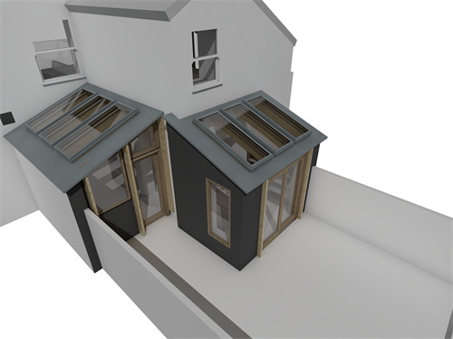 extension to town house, truro