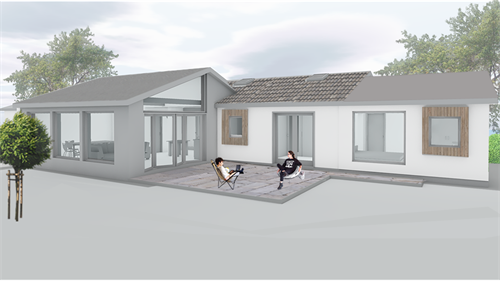 extension to existing single storey dwellling, penzance