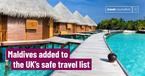 No more Quarantine when returning from the Maldives!