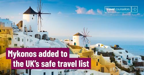 No more Quarantine when returning from Mykonos From 25 Oct!