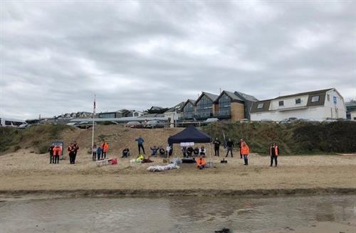 Polzeath beach clean