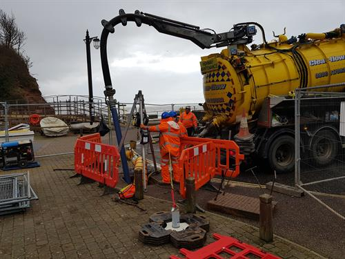 The 'Fatberg' Project in Sidmouth, early 2019