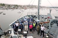 """Marine Futures """"Summit"""" aboard RFA Argus reaches PM afloat in Falmouth - News Release: 17/06/2021"""