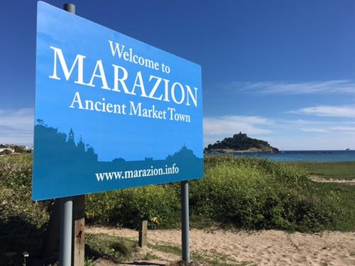 Marazion Chamber Town Sign