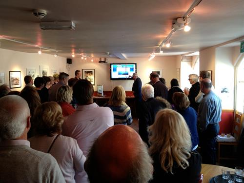 Lord St Levan 'launching' the new Chamber website