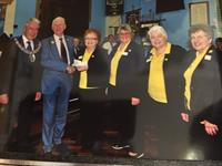 Cheque presentation by the Cornwall Masonic organisation May 2017