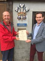 St Petrocs nominated by Camel Valley to receive a charity fund donation from the Royal Warrant Holders Association.