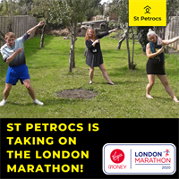 St Petrocs is taking on the London Marathon, in Cornwall