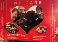 Cornwall Care raises £390 for Cornwall Air Ambulance heli appeal