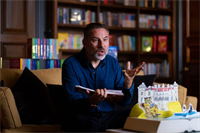 David Walliams officially opens Fowey Hall Hotel library