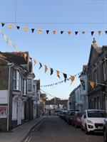 The bunting is out in Camborne