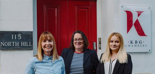 Family Clerking team, Lizzie, Yvonne and Emily
