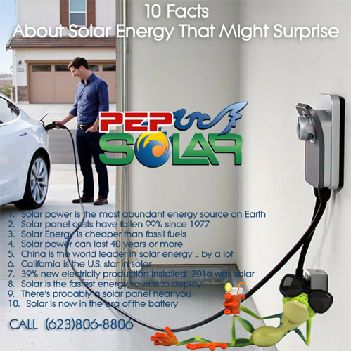 PEP Solar is a multiple solar electric solutions company.  We even install Electric Vehicle Level 2 Charging stations.