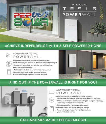 PEP Solar is certified Tesla reseller and Tesla Preferred Installer