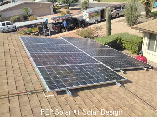 PEP Solar isn't satisfied until you are satisfied.