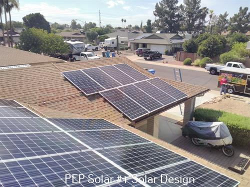 PEP Solar even paints the conduit to match (you supply the paint).