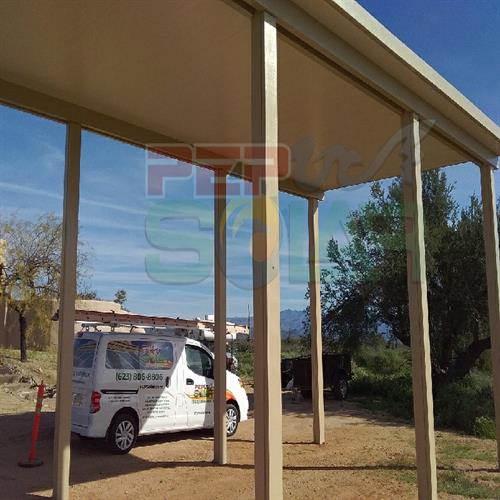 PEP Solar has more solar solutions than any other company in the nation.  Here is one of our RV Solar Shade Structures.