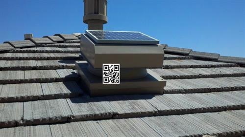 Solar Attic Fans are embedded and look sleek.