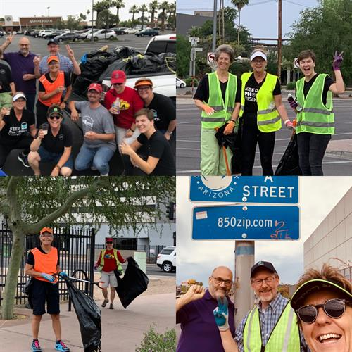 Adopt-A-Street Cleanup Team.  Central Avenue & Camelback between the 7's.