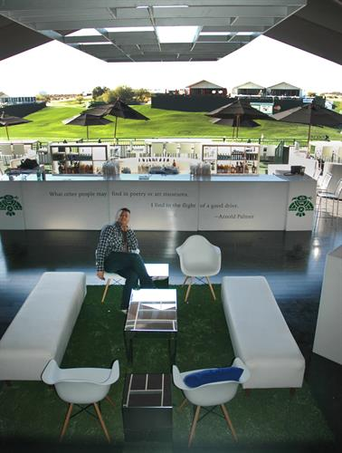 I had the pleasure of designing the Thunderbird's private tent on the 18th hole at the WM Phoenix Open for four years.