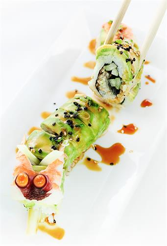 Fresh sushi & Happy Hour deals at Sky Bar Steak & Sushi