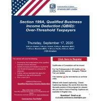 Qualified Business Income Deduction (QBID): Over-Threshold Taxpayers