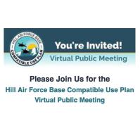 Hill Air Force Base Compatible Use Plan Virtual Public Meeting