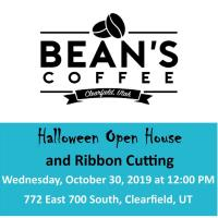 Bean's Coffee Halloween Open House & Ribbon Cutting