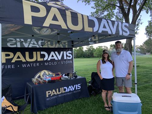 Jill and Mike at Golf Tournament