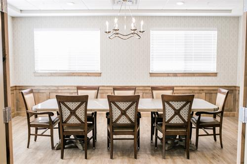 Whisper Cove Assisted Living and Memory Care of Kaysville Private Family Dining Rendering