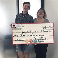 American Power Systems, Inc. Presents UTHS Grad With Scholarship Award