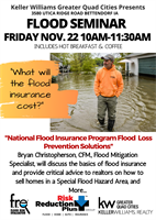 Keller Williams Greater Quad Cities presents a FREE FLOOD SEMINAR for local community and REALTORS®