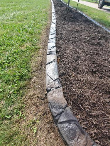 Landscape concrete edging tree ring