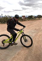 Peter, mountain biking in the rugged CA hills