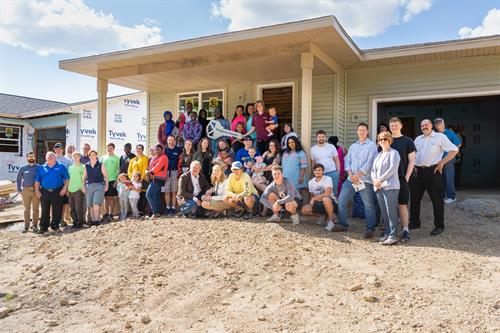 Sun Prairie high schoolers helped build this home - learning skills while helping others.