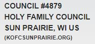 Knights of Columbus Holy Family Council #4879 Sun Prairie