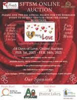 Hearts For The Homeless, 14 Days of Love Online Auction