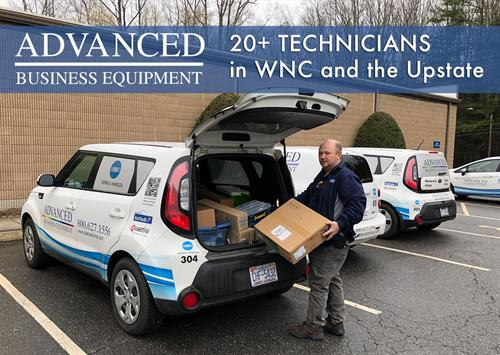 With over 20 certified, trained technicians we're able to quickly resolve any equipment issues