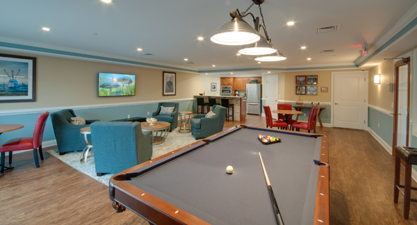 Billiards Table in the Community Room