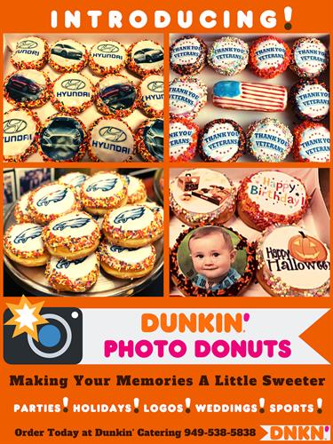 Dunkin Photo Donuts!