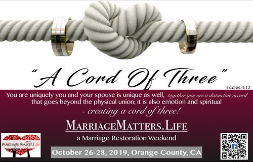 """A Cord of Three""  - Marriages need work too. Strengthen your bond!"