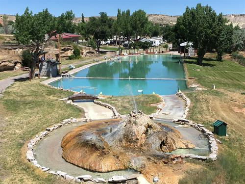 Huge hot mineral pool