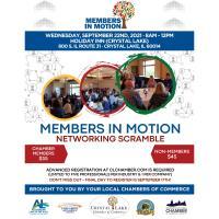 Members in Motion Networking Scramble