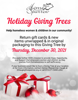 Home of the Sparrow: Holiday Giving Trees 2021