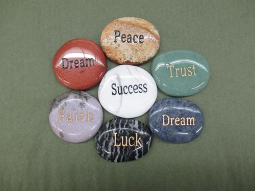 Positive message Stones to inspire you